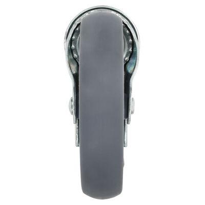 vidaXL Länkhjul med bulthål 24 st 125 mm