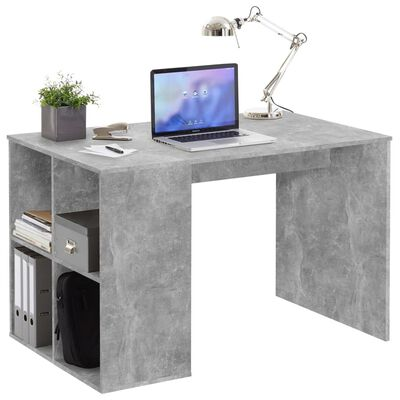 FMD Skrivbord med sidohyllor 117x73x75 cm betong