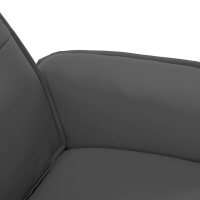 vidaXL Massagefåtölj med fotpall antracitgrå konstläder