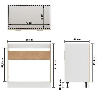 vidaXL Underskåp för diskho sonoma-ek 80x46x81,5 cm spånskiva
