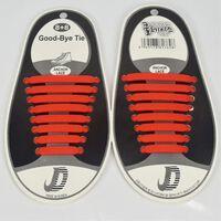 Trendiga skosnöre som ej behöver knytas 8 par, röd