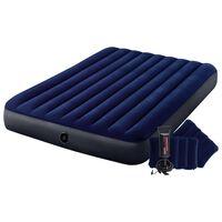 Intex Uppblåsbar luftmadrass med pump Dura-Beam 152x203x25 cm blå