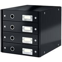 Leitz Skrivbordsbyrå WOW svart 4 lådor