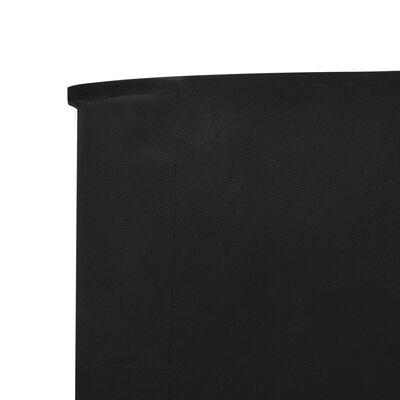 vidaXL Vindskydd 5 paneler tyg 600x80 cm svart