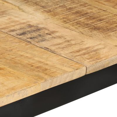 vidaXL Matbord 180x90x76 cm massivt grovt mangoträ