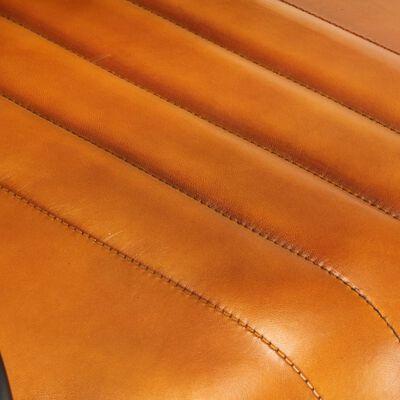 vidaXL Matstolar 2 st ljusbrun äkta läder