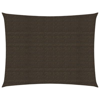 vidaXL Solsegel 160 g/m² brun 2,5x3,5 m HDPE