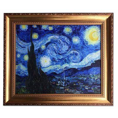 Efter Vincent van Gogh, Starry night 50x60 oljemålning