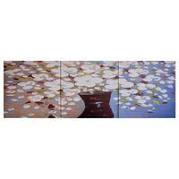 vidaXL Canvastavla blommor i vas flerfärgad 120x40 cm