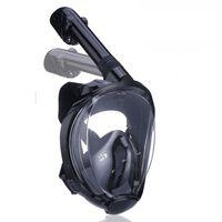 Helmask cyklop med snorkel och GoPro fäste - svart - S/M