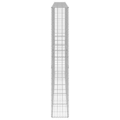 vidaXL Gabionmur galvaniserat stål 300x30x200 cm