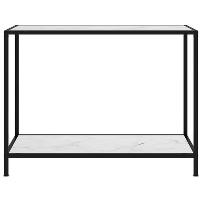 vidaXL Konsolbord vit 100x35x75 cm härdat glas