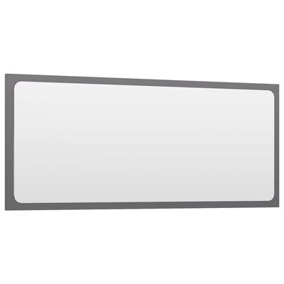 vidaXL Badrumsmöbler set grå högglans spånskiva