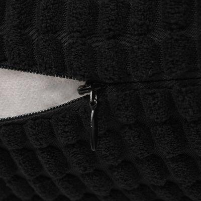 vidaXL Kudde 2 st velour svart 60x60 cm