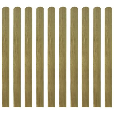 vidaXL Impregnerad staketribba 20 st trä 120 cm