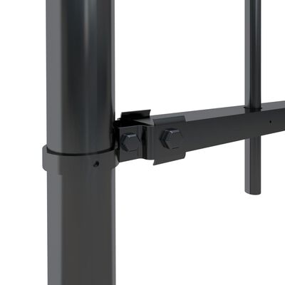 vidaXL Trädgårdsstaket med spjuttopp stål 11,9x1,5 m svart