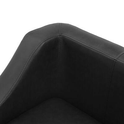 vidaXL Hundsoffa svart 67x52x40 cm konstläder