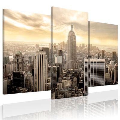 Tavla - New York At Dusk - 120x100 Cm