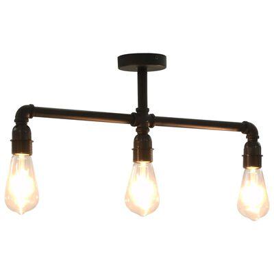 vidaXL Taklampa svart 3 x E27-lampor