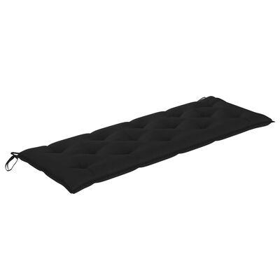 vidaXL Hammockdyna svart 150 cm tyg
