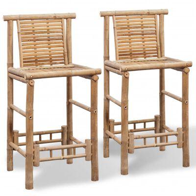vidaXL Barstolar 2 st bambu