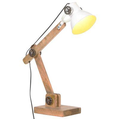 vidaXL Skrivbordslampa industriell vit rund 58x18x90 cm E27,