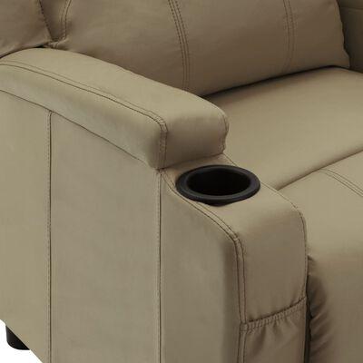 vidaXL Elektrisk reclinerfåtölj cappuccino konstläder