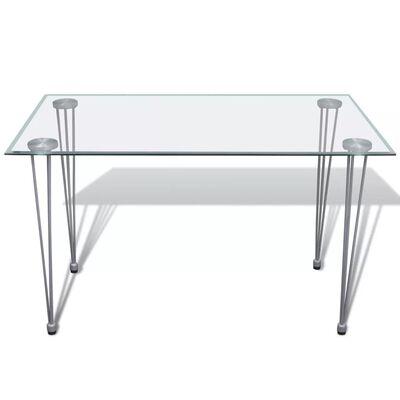 vidaXL Matgrupp 6 stolar med 1 glasbord