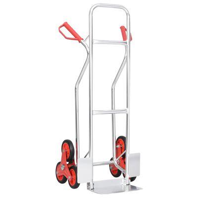 vidaXL Säckkärra för trappor med 6 däck 51x53,5x118 cm 150 kg