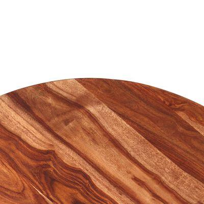 vidaXL Matbord i massivt sheshamträ 120x77 cm