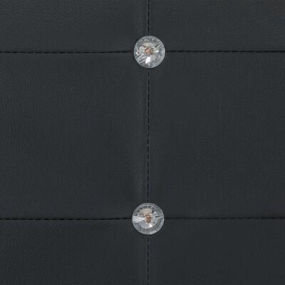 vidaXL Sängram svart konstläder 90x200 cm