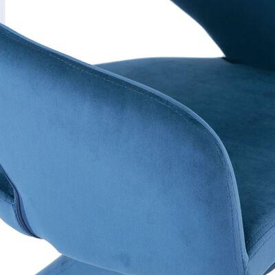 vidaXL Matstolar 6 st blå sammet