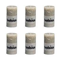 Bolsius Blockljus 130x68 mm skiffergrå 6-pack