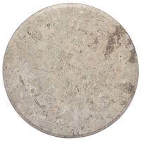 vidaXL Bordsskiva grå Ø50x2,5 cm marmor