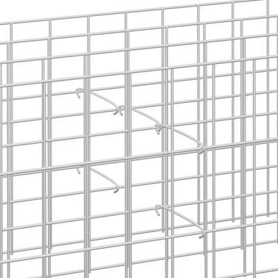 vidaXL Krokar till gabion 100 st galvaniserat stål 50 cm