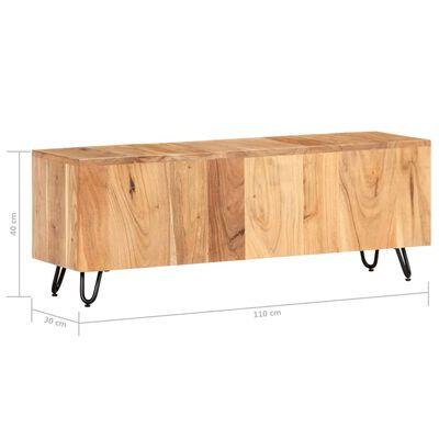 vidaXL TV-bänk 110x30x40 cm massiv akacia,