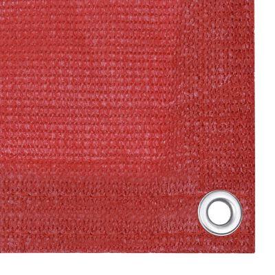 vidaXL Balkongskärm röd 90x500 cm HDPE