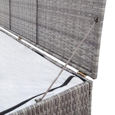 vidaXL Dynbox grå 150x50x60 cm konstrotting