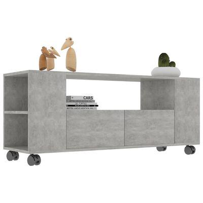 vidaXL TV-bänk betonggrå 120x35x43 cm spånskiva