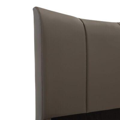 vidaXL Sängram antracit konstläder 100x200 cm