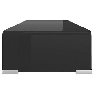 vidaXL TV-bord glas svart 60x25x11 cm