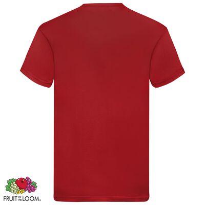 Fruit of the Loom Original T-shirt 5-pack röd stl. XXL bomull