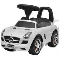 Vit Mercedes Benz trampbil