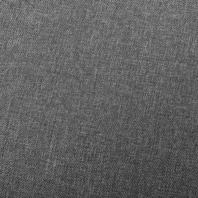vidaXL Reclinerfåtölj ljusgrå tyg