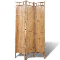 vidaXL Rumsavdelare med 4 paneler bambu