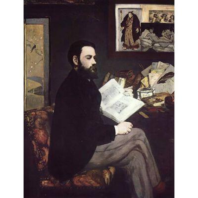 Portrait of Emaile Zola,Edouard Manet,50x38cm