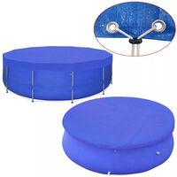vidaXL Poolöverdrag PE runt 540 cm 90 g/m²