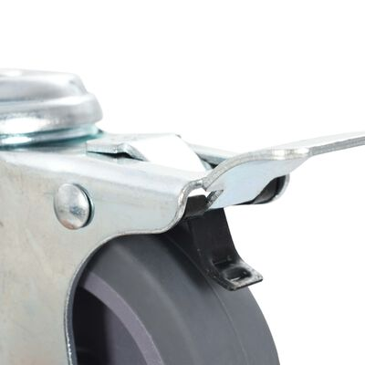 vidaXL Länkhjul med bulthål 24 st 75 mm