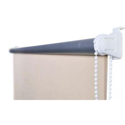 vidaXL Rullgardin för mörkläggning 120 x 230 cm gråvit
