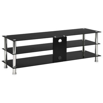vidaXL TV-bänk svart 120x40x40 cm härdat glas